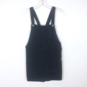 Glamorous Black Velvet Overall Dress